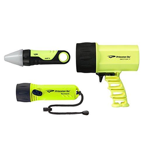 Princeton Yellow Flashlight - Princeton Tec Nav Pack LED Dive Light (700 Lumens, Neon Yellow)