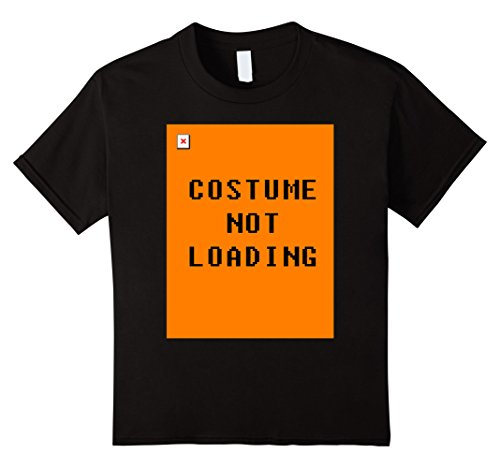 Kids Costume Not Loading Halloween T-Shirt 12 Black