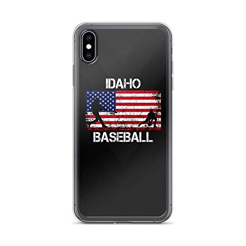 - iPhone Xs Max Pure Clear Case Cases Cover Idaho Baseball Team American Flag Independence Day Patriotic Animal 4th of July USA