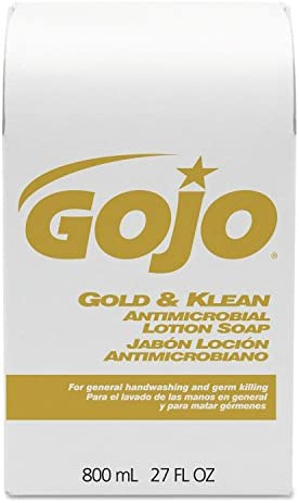 GOJ912712 – GOJO 9127-12 Gold amp Klean Antimicrobial Lotion Soap Refills, 800 mL