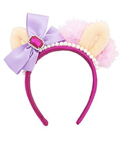 Disney Parks Muppets Miss Piggy Ears Headband Faux Pearls Bow