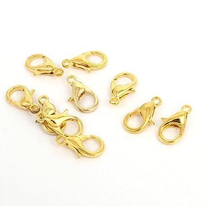 10 piezas de Oro 12x6mm tono pinza de langosta corchetes del Collar de joyas