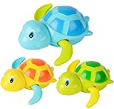 #1: Swimming Turtle Bath Toys Tub Pool Toy Cute Wind Up Turtle Animal Bathtub Set for Kids,Pack of 3 Pieces Random Color