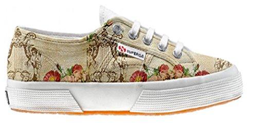 Superga Chaussures Coutume Floral Vintage (produit artisanal)