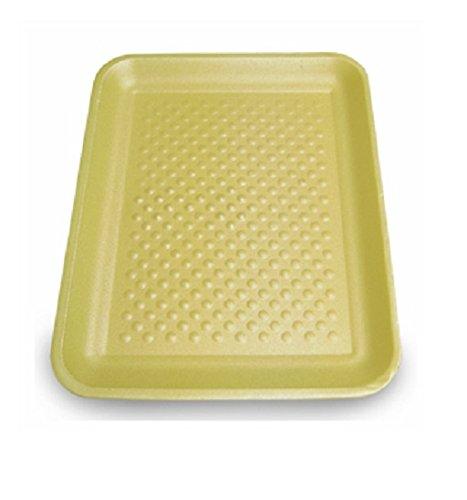 Yellow Foam Meat Tray - CKF 4SY, #4S Yellow Foam Meat Trays, Disposable Standart Supermarket Meat Poultry Frozen Food Trays, 500-Piece Bundle