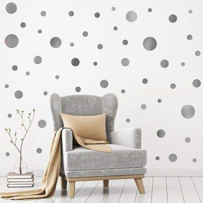 Assorted Sizes Removable Black Dot Mix Wall Decals 268PCS for Kids Room Decoration +Dots Metallic Vinyl Decor by BUGYBAGY Black Black Dot, Mix Polka+Stickers+Easy to Peel Easy to Stick