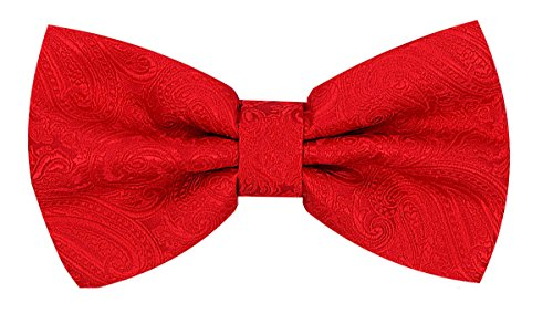 (Oliver George Paisley Bow Tie (Red) #2313-J)