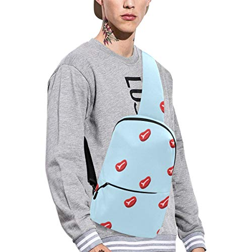 Sling Shoulder Bag Fashion Steak Meat Fried Delicious Food Idea Crossbody Bag Daily Sports Climbing Or Multi-purpose Backpack Men And Women Ladies And Teens