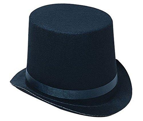 Boys Top Hat (Deluxe Black Magician Butler Formal Costume Top Hat)