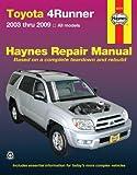 Haynes Toyota 4Runner, 2003 thru 2009 Repair Manual (92079)