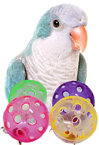 35036 Jingle Balls-4 Pack Cockatiel Parakeet Foot Toys cage Cages Parrot Budgie