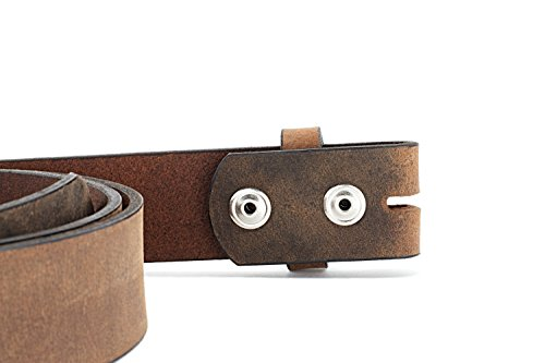 Naleeni Womens Dark Brown Leather Belt Soft with Buckle Options. Made in USA 1.5 Inch Wide 45RAN by Naleeni (Image #2)