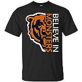 Believe in Monsters Chicago Bears Football Retro T Shirt Hoodie Long Sleeve for Men Women