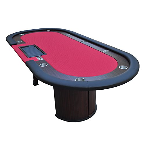 Ids poker table 10 players with wooden racetrack cup for 10 player poker table top