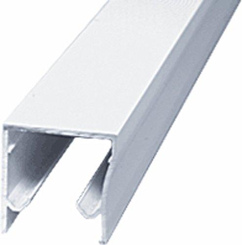 CRL White Frameless Sliding Shower Door Header Extrusion for 1/4