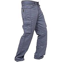 Newfacelook Men's Motorcycle Cargo Jeans Pants Reinforced with Aramid Fiber