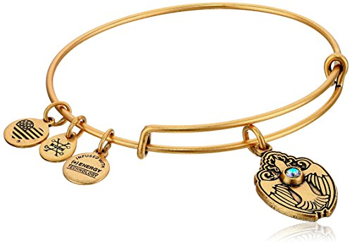 Alex and Ani Crystal Dove Rafaelian Gold Bangle Bracelet
