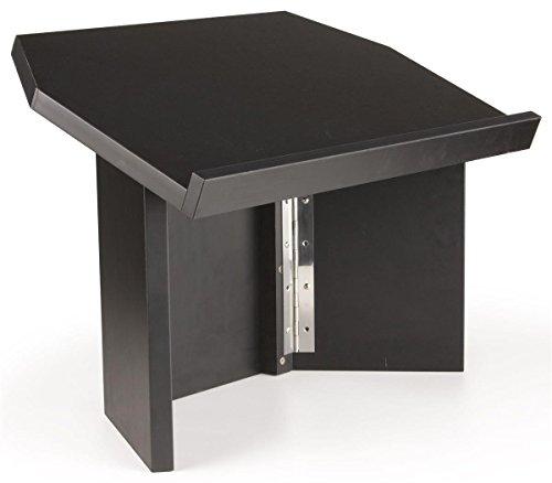 Displays2go Folding Tabletop Lectern for Speaker - Black Melamine (LCTDSKKDBK) - Folding Tabletop Lectern