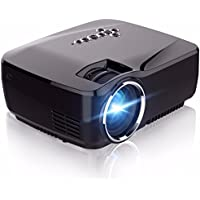 WiFi Projector,ELEGIANT 1200 Lumens Wireless Mini LED Video Projector Support 1080P VGA USB SD AV HDMI Miracast Airplay for Home Theater Movie Video Games