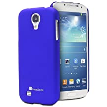 GreatShield Guardian HQ Series Slim Fit Snap On Rubberized Back Hard Protector Case Cover for Samsung Galaxy S4 S IV GT-I9500 (Metallic Blue)