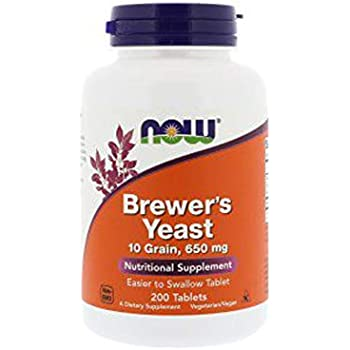 NOW Foods Brewers Yeast 650 mg 200 Tabs
