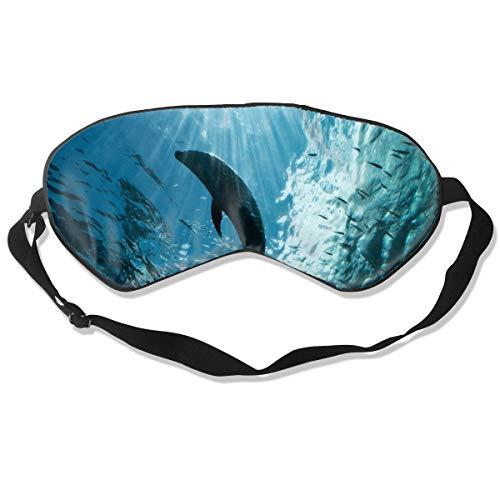 Eye Mask Ocean Dolphin Sea Customized Eyeshade Sleep Mask Soft for Sleeping Travel for Girls]()