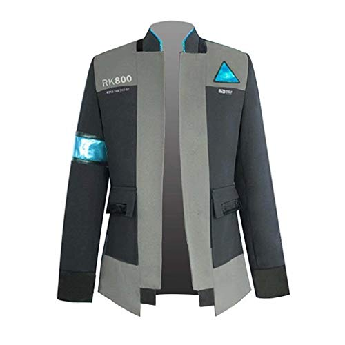 Game Detroit Human Connor Coat Uniform Halloween Cosplay Costumes (Asian Small, Black (Tie + Coat Only))