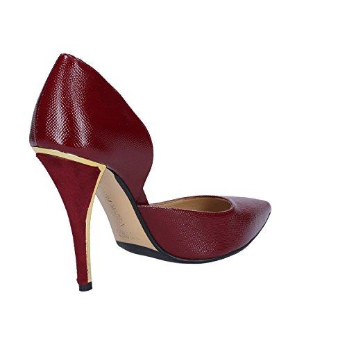 GIANNI MARRA Zapatos de Vestir de Terciopelo Para Mujer Morado Burdeos