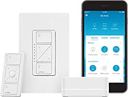 Lutron Caseta Smart Start Kit, Dimmer Switch with Smart Bridge | Works with Alexa, Apple HomeKit, and The Google...