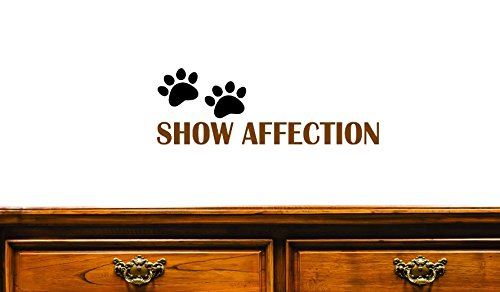 12 x 30 Design with Vinyl JER 1304 2Show Affection Animal Dog Paw Print Home Decor Design Vinyl Wall Decal Brown//Black