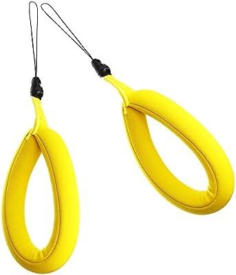 forapid impermeable amarillo flotador flotante espuma cámara Correa de muñeca (2 unidades) para bajo el agua GoPro/Panasonic/Nikon/Canon/Fujifilm/Olympus/sony-floats teléfono móvil, las llaves iphone Smartphone, evita el hundimiento: Amazon.es: Electrónica