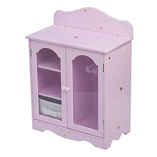 "Olivia's Little World 18"" Doll Furniture Closet, Purple/Gold, 16.75"" x 9"" x 20.75"" from Olivia's Little World"