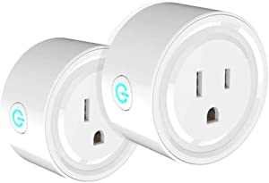 One Hour Smart Home Smart Plug Compatible with Alexa - WiFi Outlet Plug Mini Smart Socket Works with Amazon Echo and Google Home Assistant, No Hub Required 2 Pack
