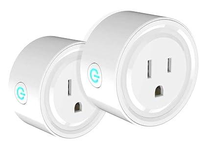 e87b725453 One Hour Smart Home Smart Plug Compatible with Alexa - WiFi Outlet Plug  Mini Smart Socket Works with Amazon Echo and Google Home Assistant, No Hub  ...