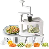 Mueller Spiral-Ultra Multi-Blade Spiralizer, 8 into 1 Spiral Slicer, Heavy Duty Salad Utensil, Vegetable Pasta Maker and Mandoline Slicer for Low Carb/Paleo/Gluten-Free Meals