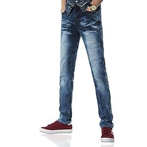 Demon hunter 817 Series Men's Stretch Slim Fit Jeans