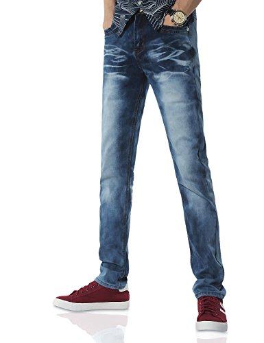 Demon&Hunter Slim Series Men's Straight Leg Fit Jeans DH8117(36)