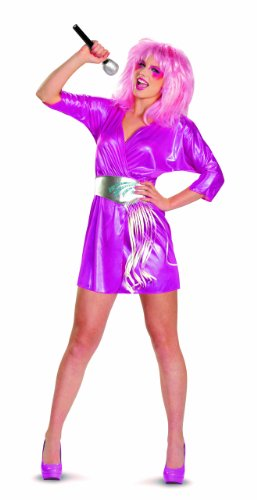 Disguise Jem and The Holograms Deluxe Womens Costume, Pink/Silver, Large/12-14 (Sexy Female Cartoon Characters)