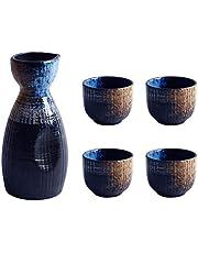 UPKOCH 1 set utsökt japansk stil keramik sakekopp sakekanna retro sake-set tekoppar dricka kopp vinkopp för hem