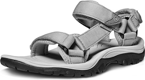 ATIKA Women's Maya Trail Outdoor Water Shoes Sport Sandals, Maya(w111) - Light Grey, 6