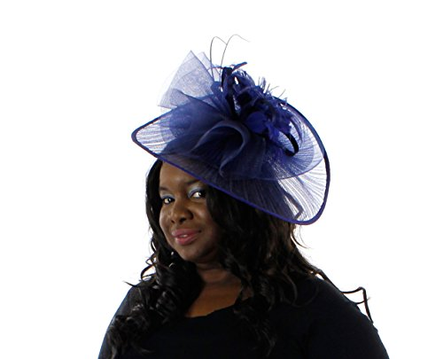 Fabulous Facinator Hat for Ladies (Navy Blue)