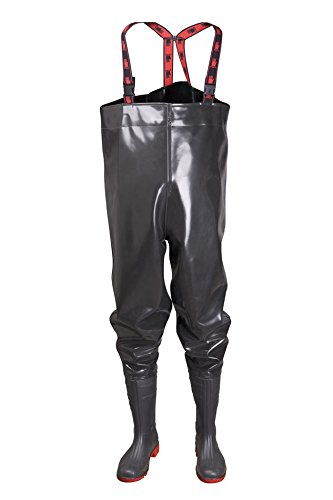 STRONG Anglerhose Wathose 40-47 EU PVC - Rubber New Generation als Latex Lucky Ducky