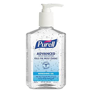 Amazon Com Purell Instant Hand Sanitizer 8 Oz Pump Bottle