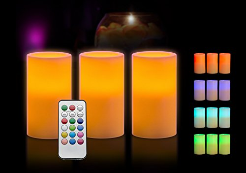 Black Friday Flameless Candles With Timer And Remote