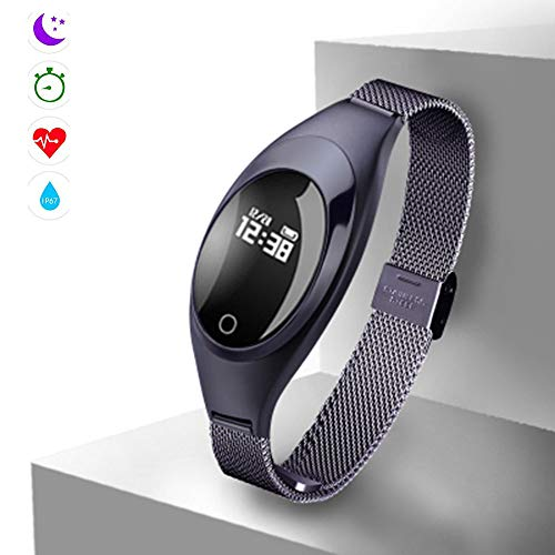 Qpw fitness tracker, smart bracelet, heart rate monitor, IP67 waterproof pedometer, compatible with ios,android