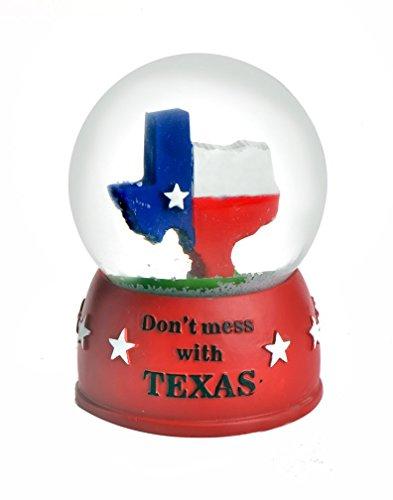- Zizo Don't Mess With Texas Snow Globe