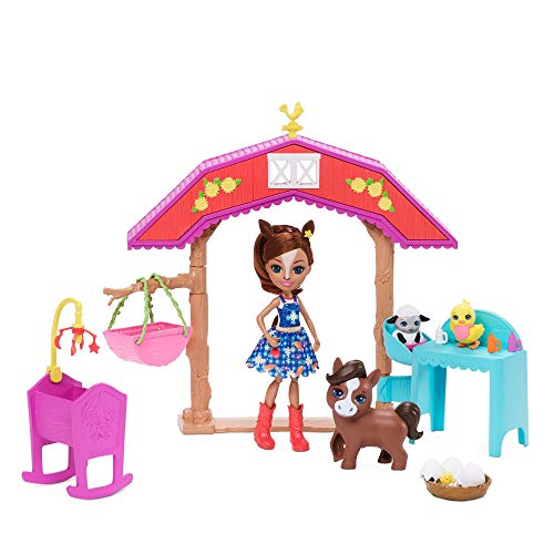 Enchantimals Barnyard Nursery Playset with Haydie Horse Doll (6-inch), Trotter Horse, 3 Additional Animal Figures, and…