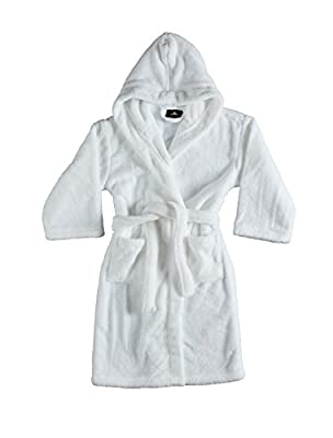 Bagno Milano Girls Robe,Kids Plush Hooded Bathrobe,Made in Turkey