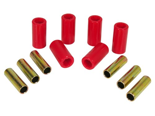 Prothane 1-1001 Red Front Spring Eye and Shackle Bushing Kit for Jeep CJ5 and CJ6 ()