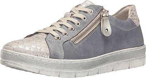 Rieker Women's D5800 Kaja 00 Shark/Jeans/Silver Shoe Footwear Womens Jeans
